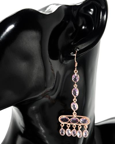 Brand New Earring with 11.7ctw amethyst 925 Rose sterling silver