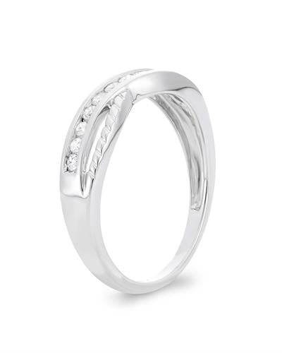 Brand New Ring with 0.25ctw diamond 10K White gold