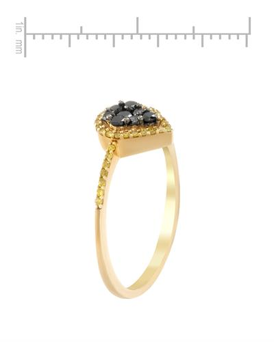 Lundstrom Brand New Ring with 0.33ctw of Precious Stones - diamond and diamond 10K Yellow gold
