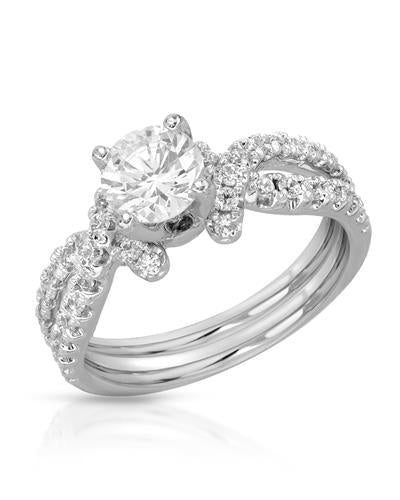 Brand New Ring with 0ctw cubic zirconia 925 Silver sterling silver