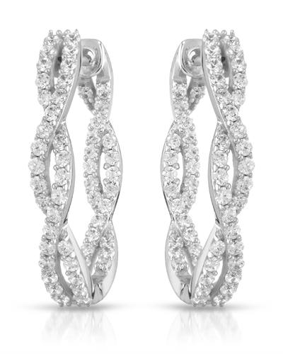 Brand New Earring with 0ctw cubic zirconia  Metallic alloy