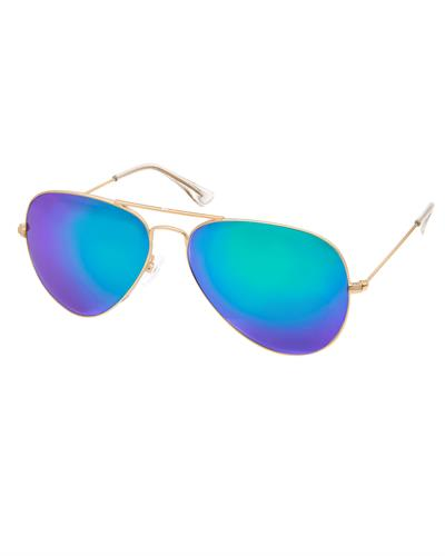 AQS JMS003 Purple/Green James Brand New Sunglasses  Gold metal