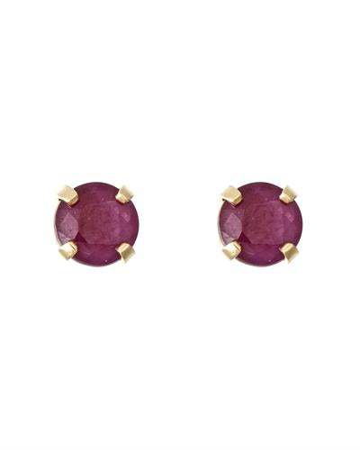 Brand New Earring with 0.66ctw ruby 14K Yellow gold
