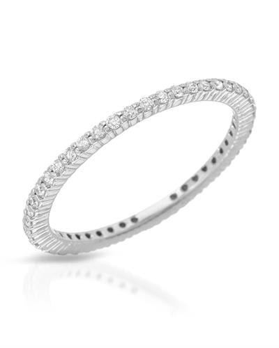 Julius Rappoport Brand New Ring with 0.37ctw diamond 18K White gold