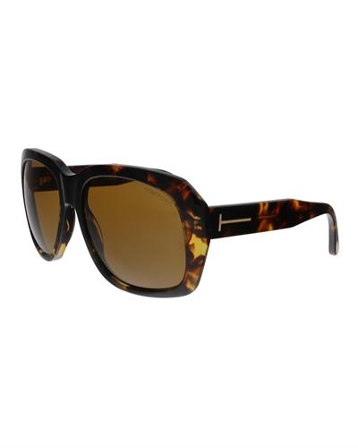 Tom Ford FT0635 52E Andre-02 Brand New Sunglasses  Havana plastic
