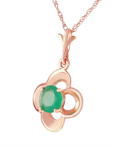 Magnolia Brand New Necklace with 0.55ctw emerald 14K Rose gold