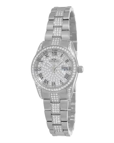 Oniss ON3880-L PARIS Brand New Japan Quartz date Watch with 0ctw crystal