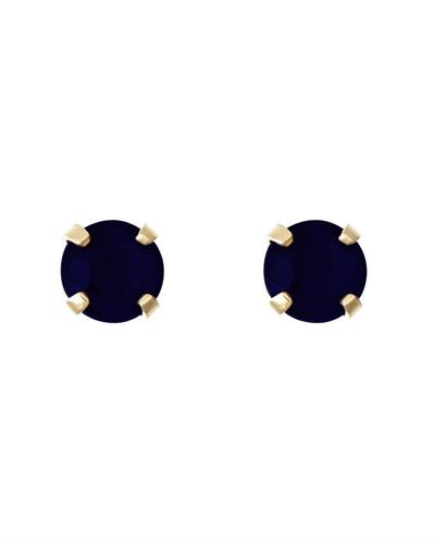 Brand New Earring with 0.66ctw sapphire 14K Yellow gold