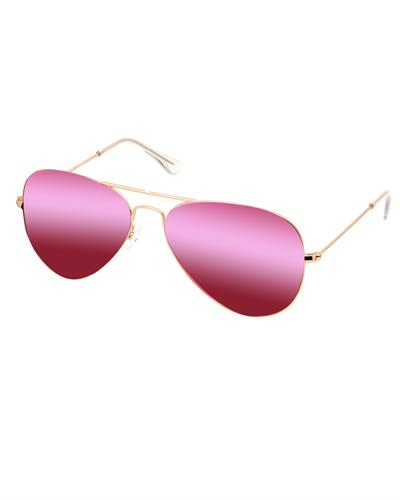 AQS JMS008 Pink James Brand New Sunglasses  Gold metal