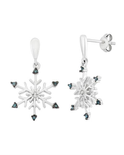 Brand New Earring with 0.08ctw of Precious Stones - diamond and diamond 925 Silver sterling silver