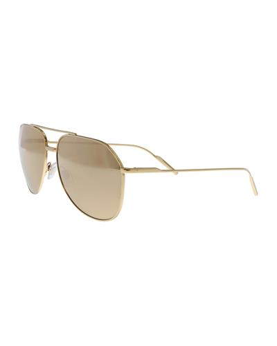 Dolce & Gabbana DG2166 K02/F9 Brand New Sunglasses  Gold metal