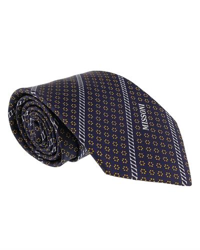 MISSONI Brand New Tie  Navy blue Silk