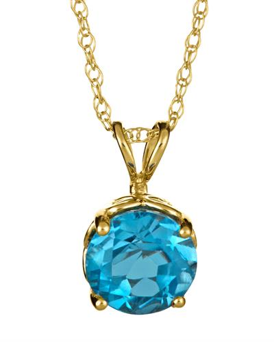 Brand New Necklace with 1.55ctw topaz 14K Yellow gold