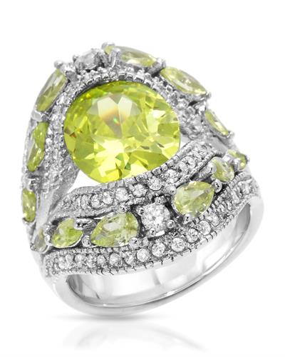 Brand New Ring with 0ctw of Precious Stones - cubic zirconia and cubic zirconia 925 Silver sterling silver