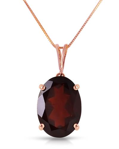Magnolia Brand New Necklace with 6ctw garnet 14K Rose gold