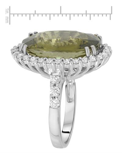 Julius Rappoport Brand New Ring with 16.88ctw of Precious Stones - diamond and tourmaline 18K White gold