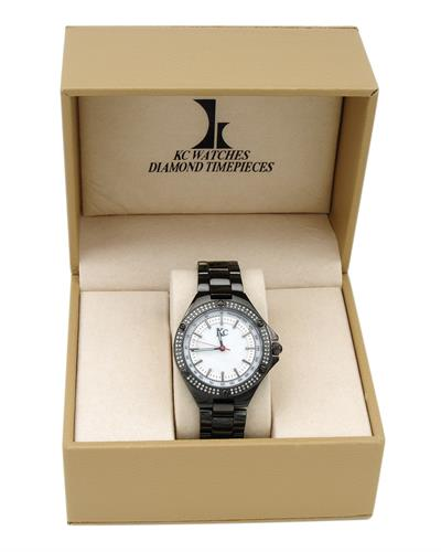 KC WA007018 Brand New Quartz Watch with 0.5ctw of Precious Stones - diamond and mother of pearl