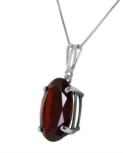 Magnolia Brand New Necklace with 6ctw garnet 14K White gold