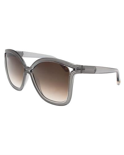 Chloe CE737/S 035 Brand New Sunglasses  Grey plastic