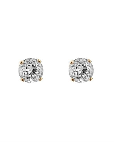 Brand New Earring with 0.6ctw topaz 14K Yellow gold