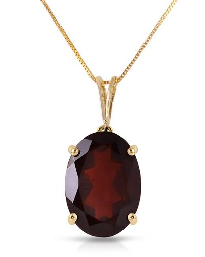 Magnolia Brand New Necklace with 6ctw garnet 14K Yellow gold