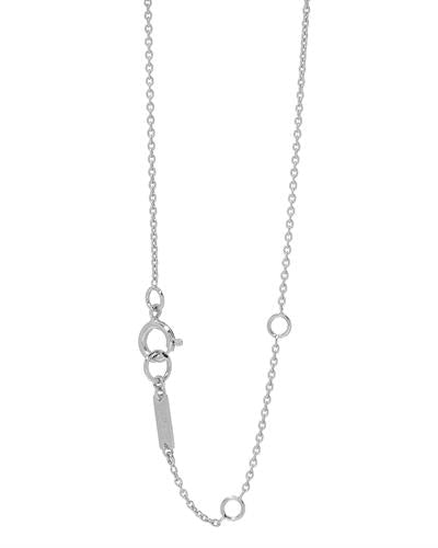 Julius Rappoport Brand New Necklace with 4.78ctw of Precious Stones - diamond and emerald 18K White gold