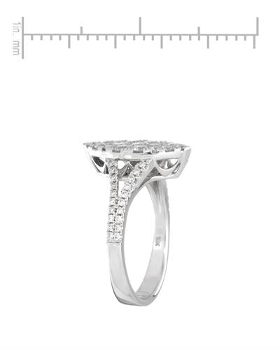Brand New Ring with 0.85ctw diamond 18K White gold