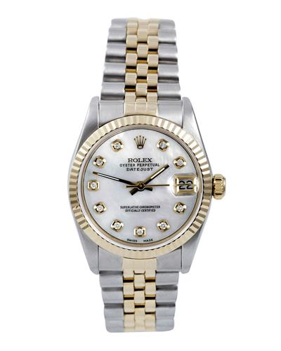 Rolex 68200 Series PreOwned Automatic date Watch with 0.1ctw diamond