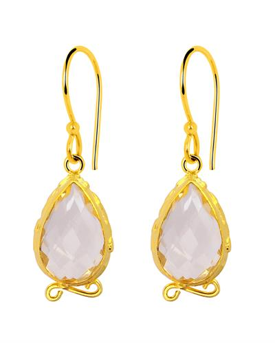 Brand New Earring with 9.5ctw citrine 14K/925 Yellow Gold plated Silver