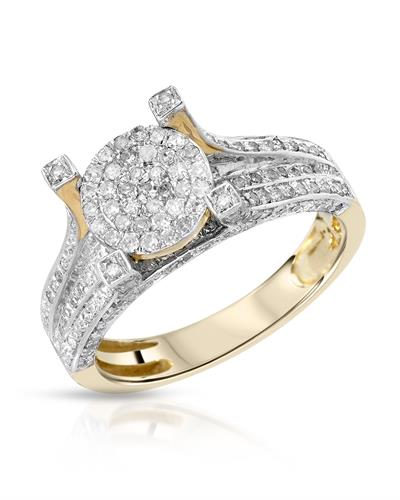 Brand New Ring with 0.67ctw diamond 10K Yellow gold