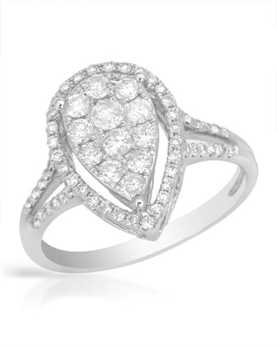 Brand New Ring with 0.79ctw diamond 18K White gold