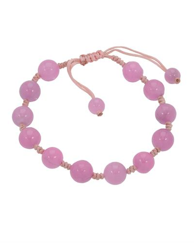 Brand New Bracelet with 0ctw jade  Pink Silk
