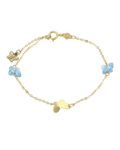 Golden Arc Jewelry Brand New Bracelet with 0ctw crystal 14K Yellow gold