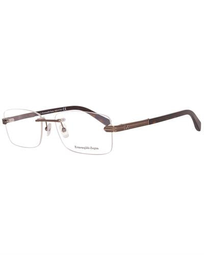 Ermenegildo Zegna Ez5010 56034 Brand New Eyeglasses  Gunmetal metal and  Gunmetal plastic