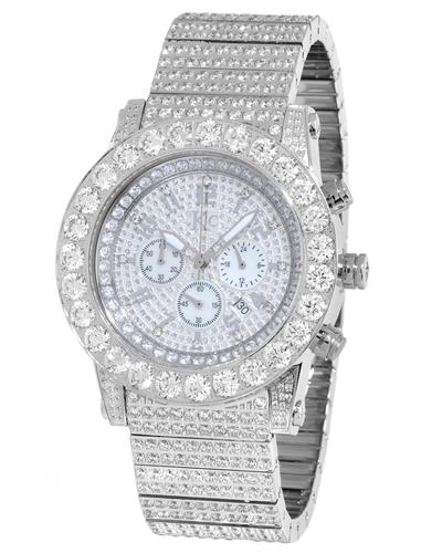 KC WA009420 Brand New Quartz day date Watch with 0ctw of Precious Stones - cubic zirconia and mother of pearl