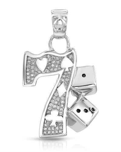 Brand New Pendant with 0.38ctw of Precious Stones - diamond and diamond 925 Silver sterling silver
