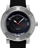 KC WA006346 Brand New Quartz Watch with 1.25ctw of Precious Stones - crystal, diamond, diamond, and mother of pearl