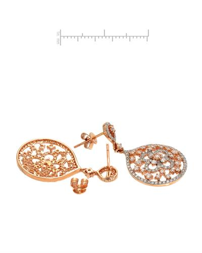 Brand New Earring with 1.78ctw diamond 14K Rose gold