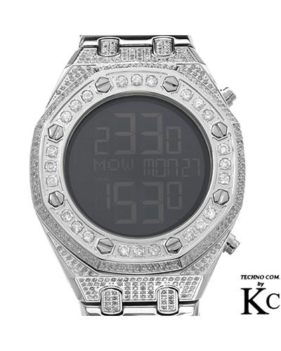 Techno Com WA005773 Brand New Quartz Watch with 5.5ctw of Precious Stones - diamond and diamond