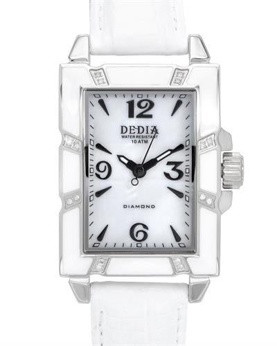 DEDIA 6201LR003 Lily LR Brand New Swiss Movement Watch with 0.08ctw of Precious Stones - diamond and mother of pearl