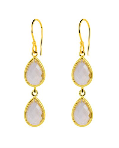 Brand New Earring with 5.1ctw citrine 14K/925 Yellow Gold plated Silver