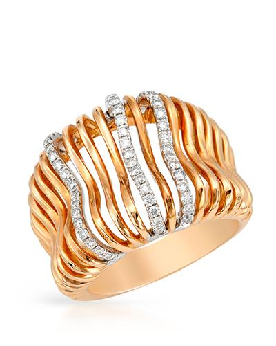 Brand New Ring with 0.36ctw diamond 18K Two tone gold