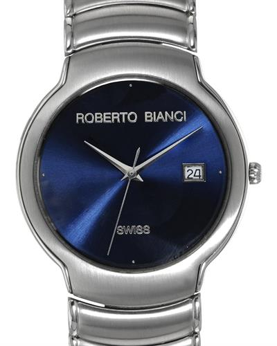 Roberto Bianci RBC-3618MBU Brand New Swiss Movement date Watch