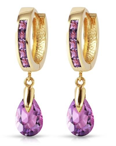 Magnolia Brand New Earring with 3.3ctw amethyst 14K Yellow gold