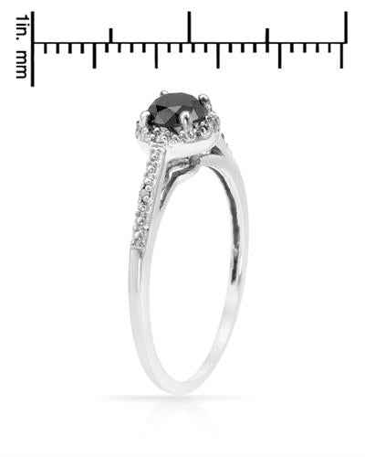 Brand New Ring with 0.53ctw of Precious Stones - diamond and diamond 925 Silver sterling silver