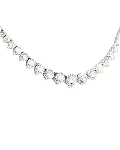 Brand New Necklace with 10ctw diamond 14K White gold