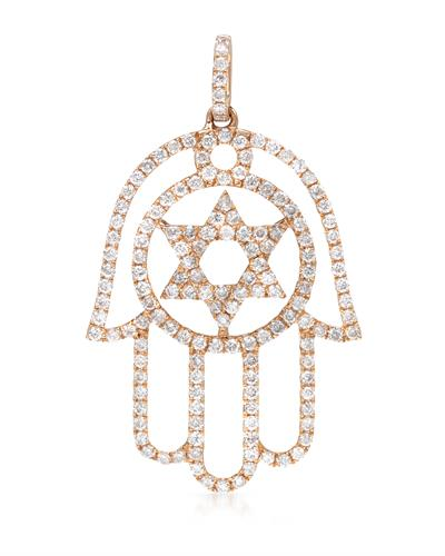 Brand New Pendant with 0.6ctw diamond 18K Rose gold