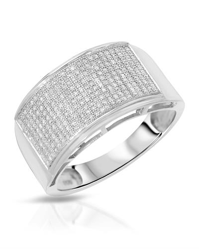 Brand New Ring with 0.55ctw diamond 925 Silver sterling silver