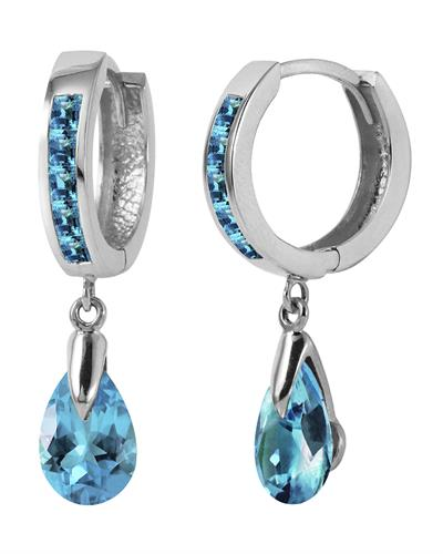 Magnolia Brand New Earring with 4.2ctw topaz 14K White gold