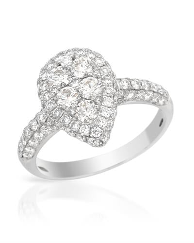 Brand New Ring with 1.51ctw diamond 14K White gold